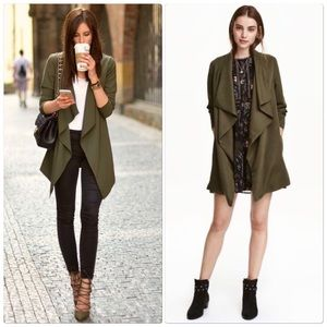 H&M Green Draped Jacket